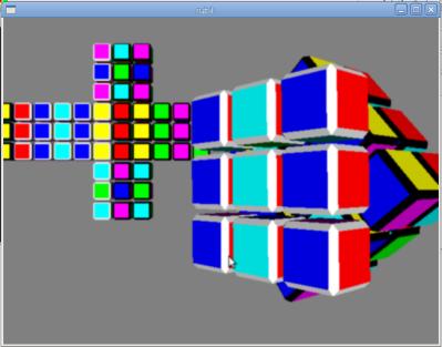 Модель кубика Рубика