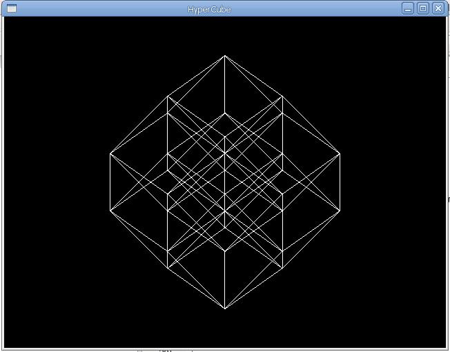 Одна з проекцій каркасу п'ятивимірного куба
