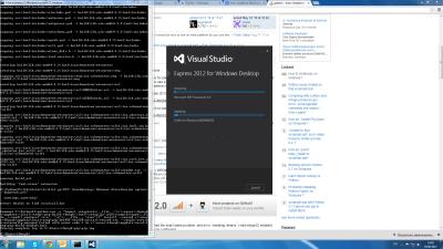 Ви лише погляньте який модний інтерфейс встановника Visual Studio і яка там досі огидна консоль.